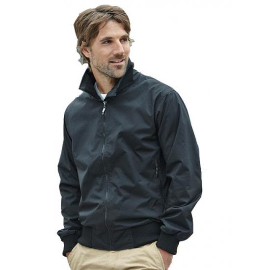 Casual zwarte jas voor heren