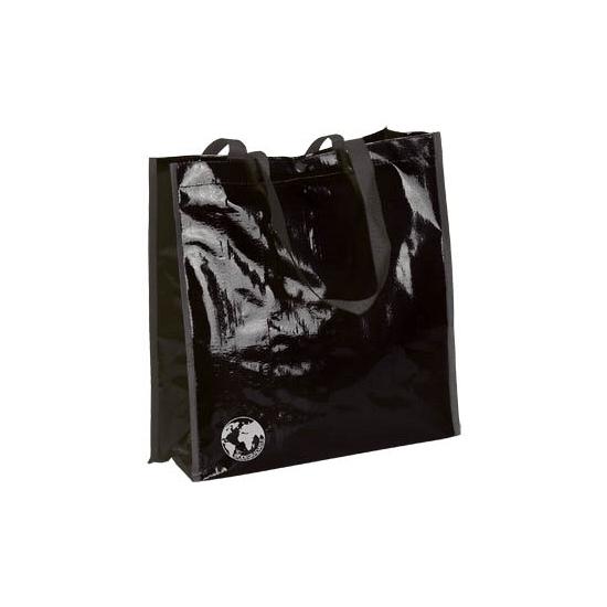 Glimmende zwarte eco tas