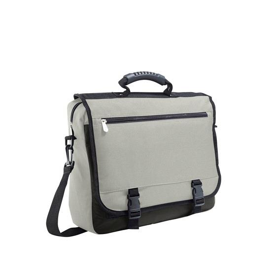 Grijse zakentas laptoptas van polyester