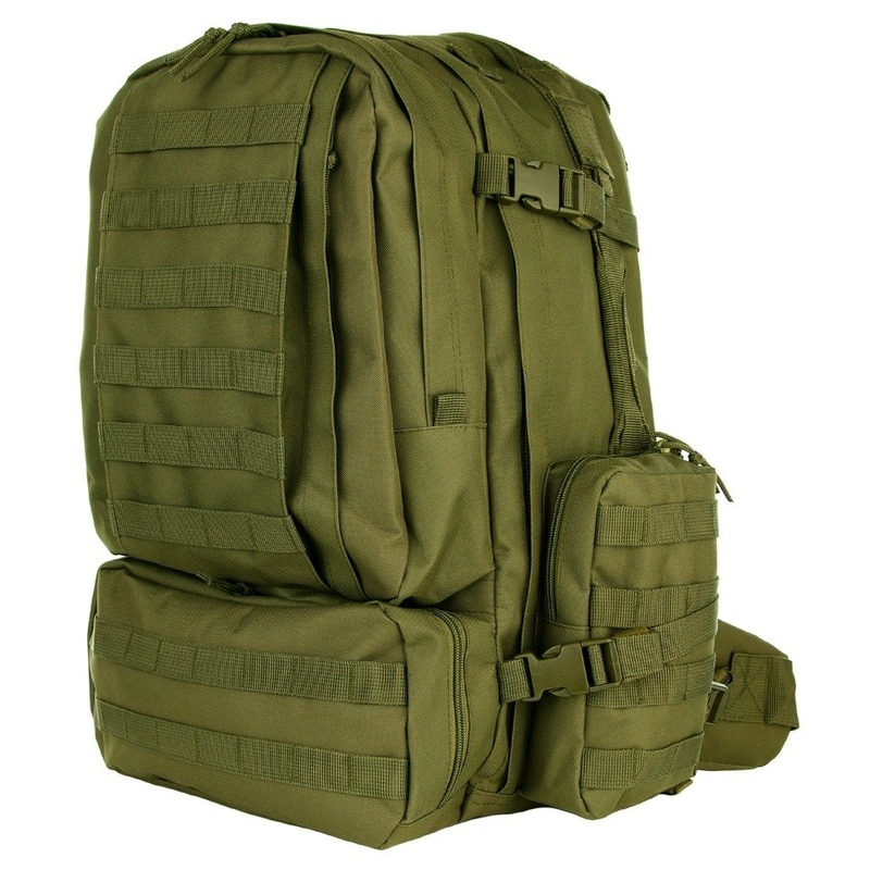 Grote legergroene Assault rugzak 60 liter