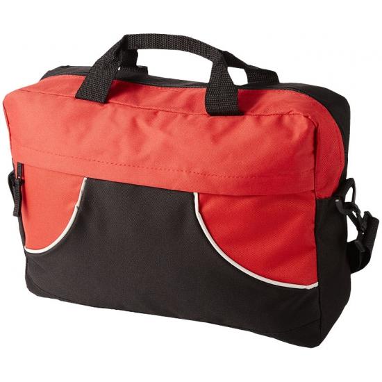 Kantoor tas zwart rood