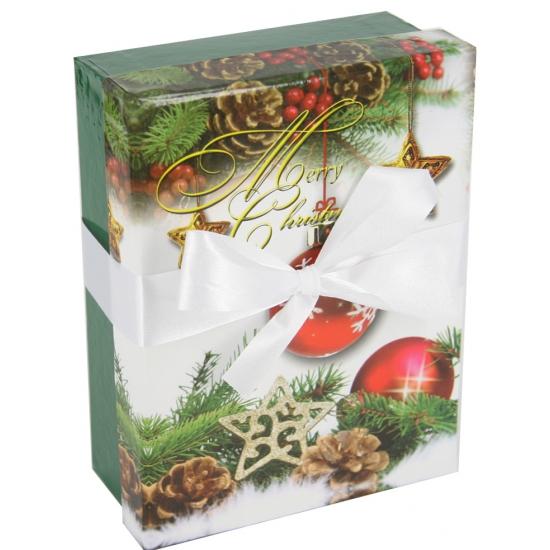 Kerst decoratie kadootje groen 14 cm