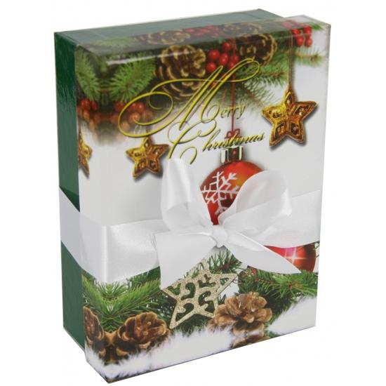 Kerst decoratie kadootje groen 16 cm