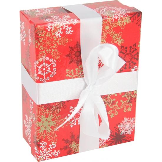 Kerst decoratie kadootje rood 16 cm