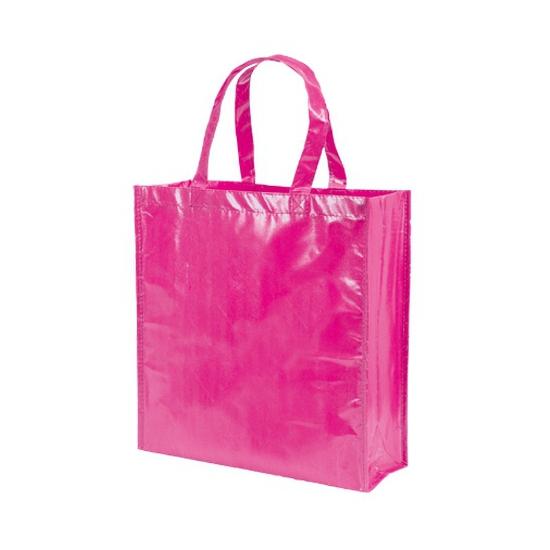 Milieuvriendelijke roze boodschappentas