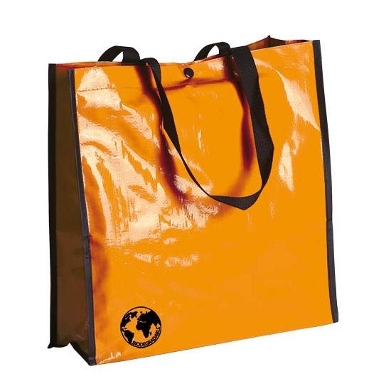Oranje eco boodschappentas