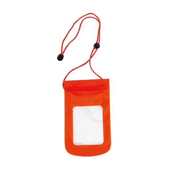 Plastic smartphone tasje rood