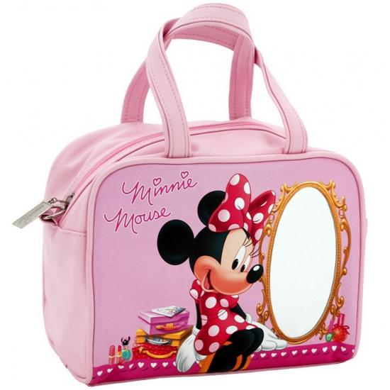 Roze Minnie Mouse handtas met spiegel voor kinderen