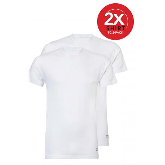 Ten Cate witte shirts ronde hals 2 pak man