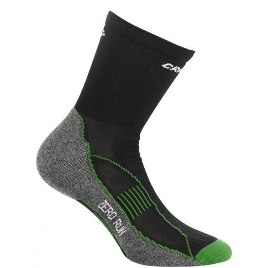 Warme sportsokken van Craft zwart/groen