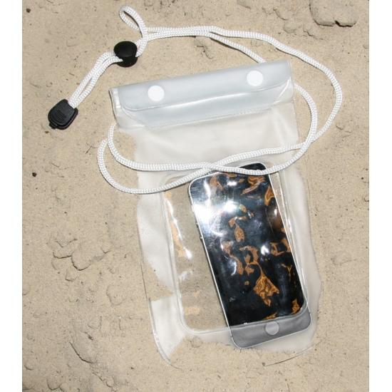 Wit strandtasje voor smartphone