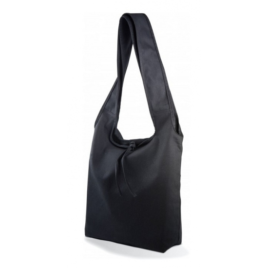 Zwarte canvas shopper tas