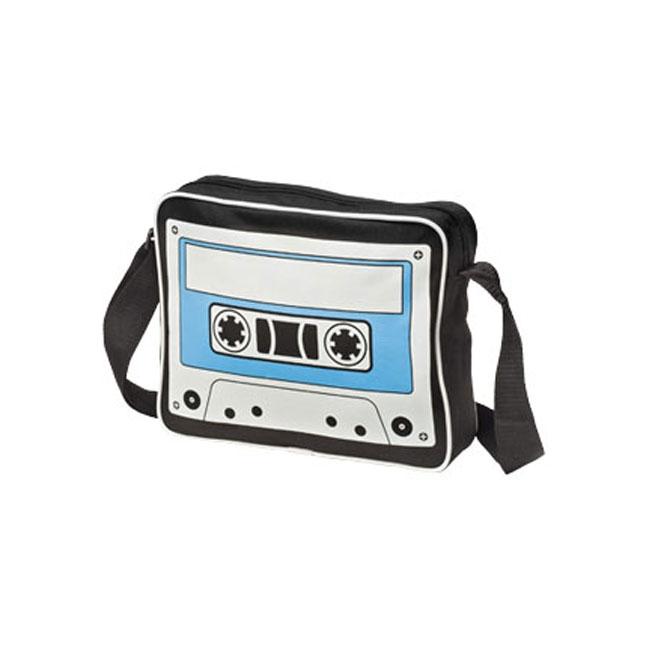 Zwarte retro tas met cassettebandje