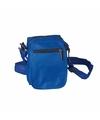 Blauw schoudertasje 15 cm