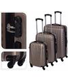Bronzen handbagage koffer 57 cm