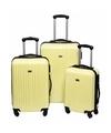 Gele handbagage koffer 46 cm
