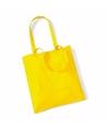 Katoenen tasje geel 42 x 38 cm