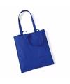 Katoenen tasje kobaltblauw 42 x 38 cm