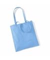 Katoenen tasje lichtblauw 42 x 38 cm