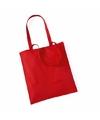 Katoenen tasje rood 42 x 38 cm