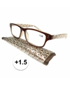 Modieuze leesbril 1 5 fantasy bruin