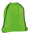Neon groene gymtas met rijgkoord