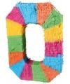 Pinata gekleurde cijfer 0