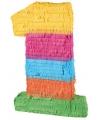 Pinata gekleurde cijfer 1