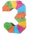 Pinata gekleurde cijfer 3