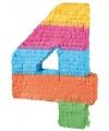 Pinata gekleurde cijfer 4