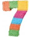 Pinata gekleurde cijfer 7