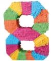 Pinata gekleurde cijfer 8
