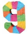 Pinata gekleurde cijfer 9