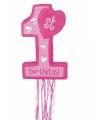 Roze pinata voor de 1e verjaardag