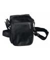 Zwart schoudertasje 15 cm