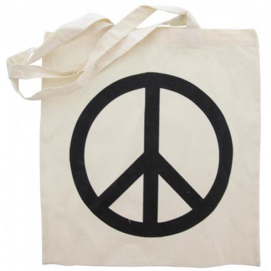 c1efa2be9ad Tassen-Voordeel.nl - Peace tasje van katoen