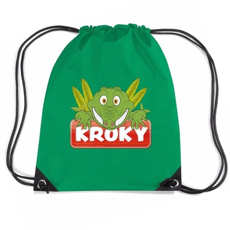 bafddbc831f Tassen-Voordeel.nl - Kroky de Krokodil rugtas / gymtas groen voor ...