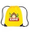 Aapie het aapje rugtas gymtas geel voor kinderen