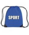 Blauw sport rugtasje gymtasje kinderen