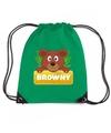 Browny de beer rugtas gymtas groen voor kinderen