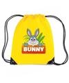 Bunny het konijn rugtas gymtas geel voor kinderen
