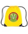 Dinosaurus rugtas gymtas geel voor kinderen