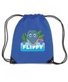 Flippy de dolfijn rugtas gymtas blauw voor kinderen