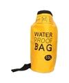 Gele waterdichte tas 10 liter