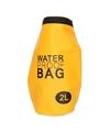 Gele waterdichte tas 2 liter