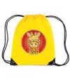 Giraffe rugtas gymtas geel voor kinderen