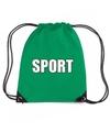 Groen sport rugtasje gymtasje kinderen
