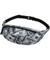 Heuptas zwart met geld print