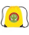 Krokodillen rugtas gymtas geel voor kinderen
