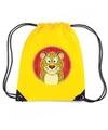 Luipaarden rugtas gymtas geel voor kinderen